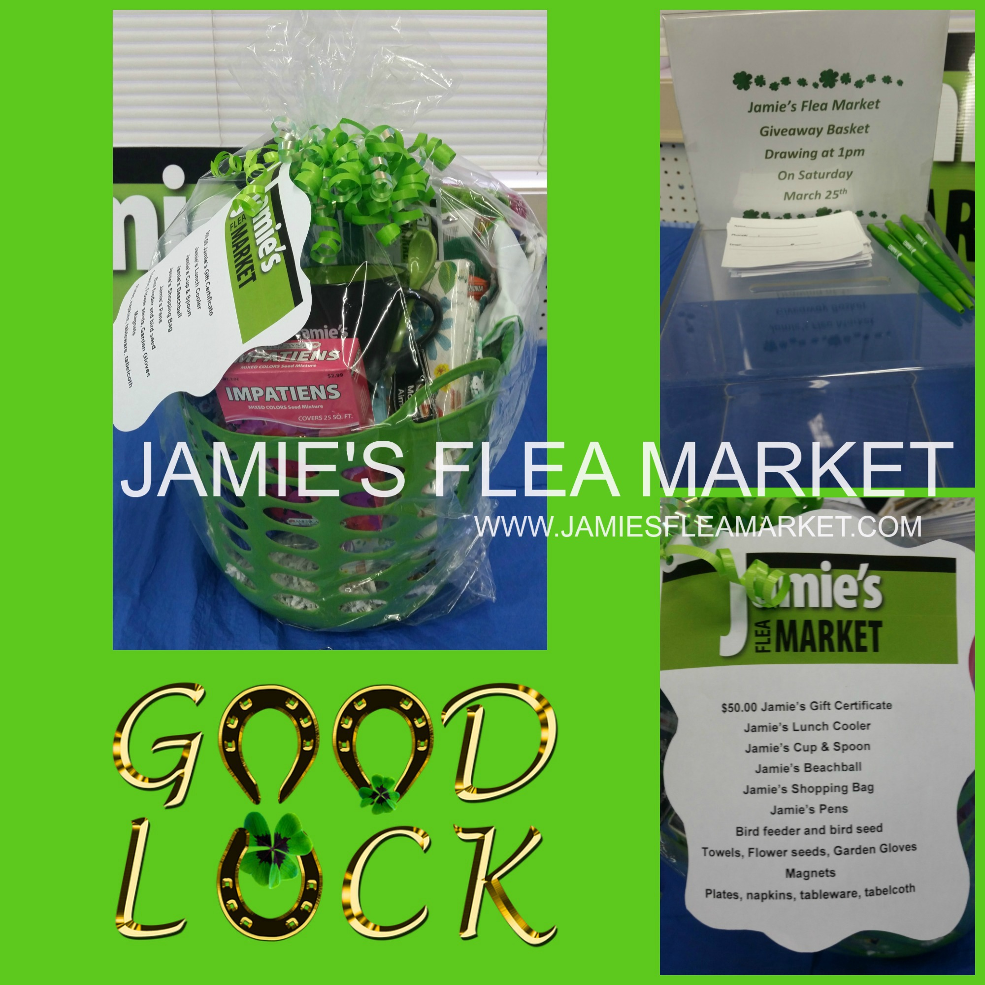 march giveaway, jamie's flea market