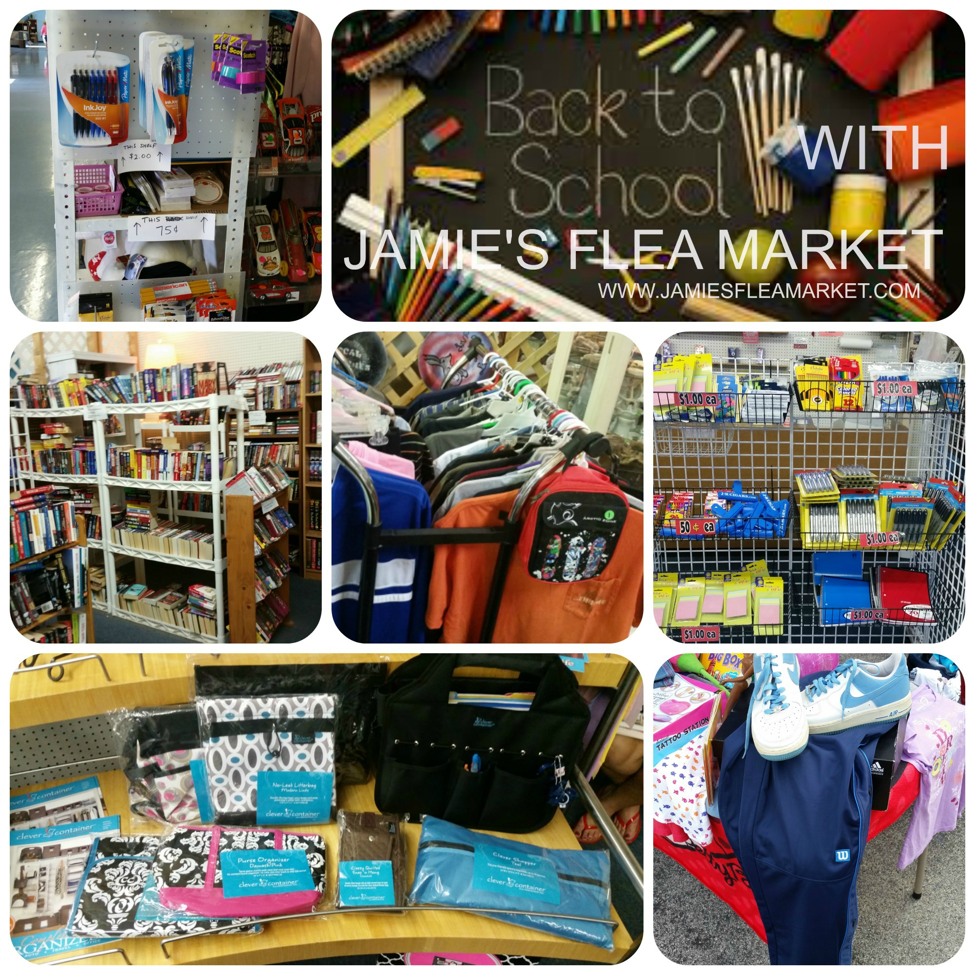 Get your Back to School at Jamie's Flea Market